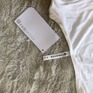 "Fabletics White Mariela ""Take A Bow"" Tank, M."